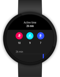 Google Fit screen on smartwatch