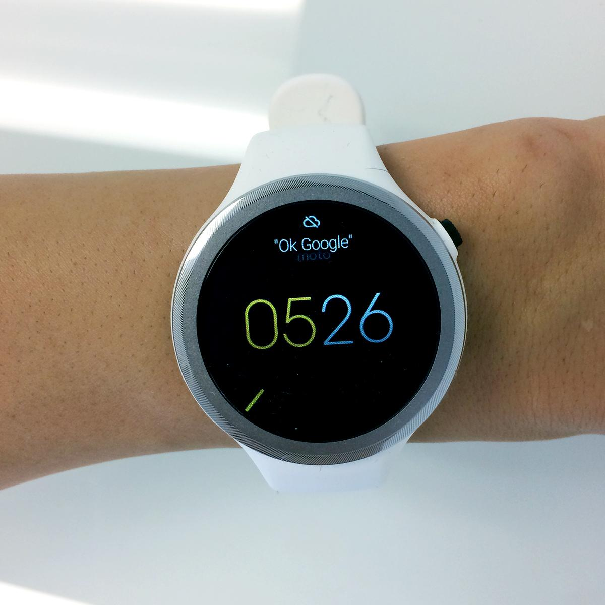 Moto 360 Sport used for Fitbit compare