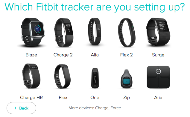 Fitbit Connect setup screen