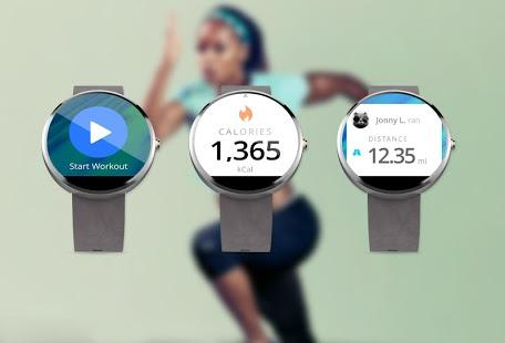 MapMyFitness on smartwatch screen
