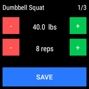 JEFIT screen with workouts