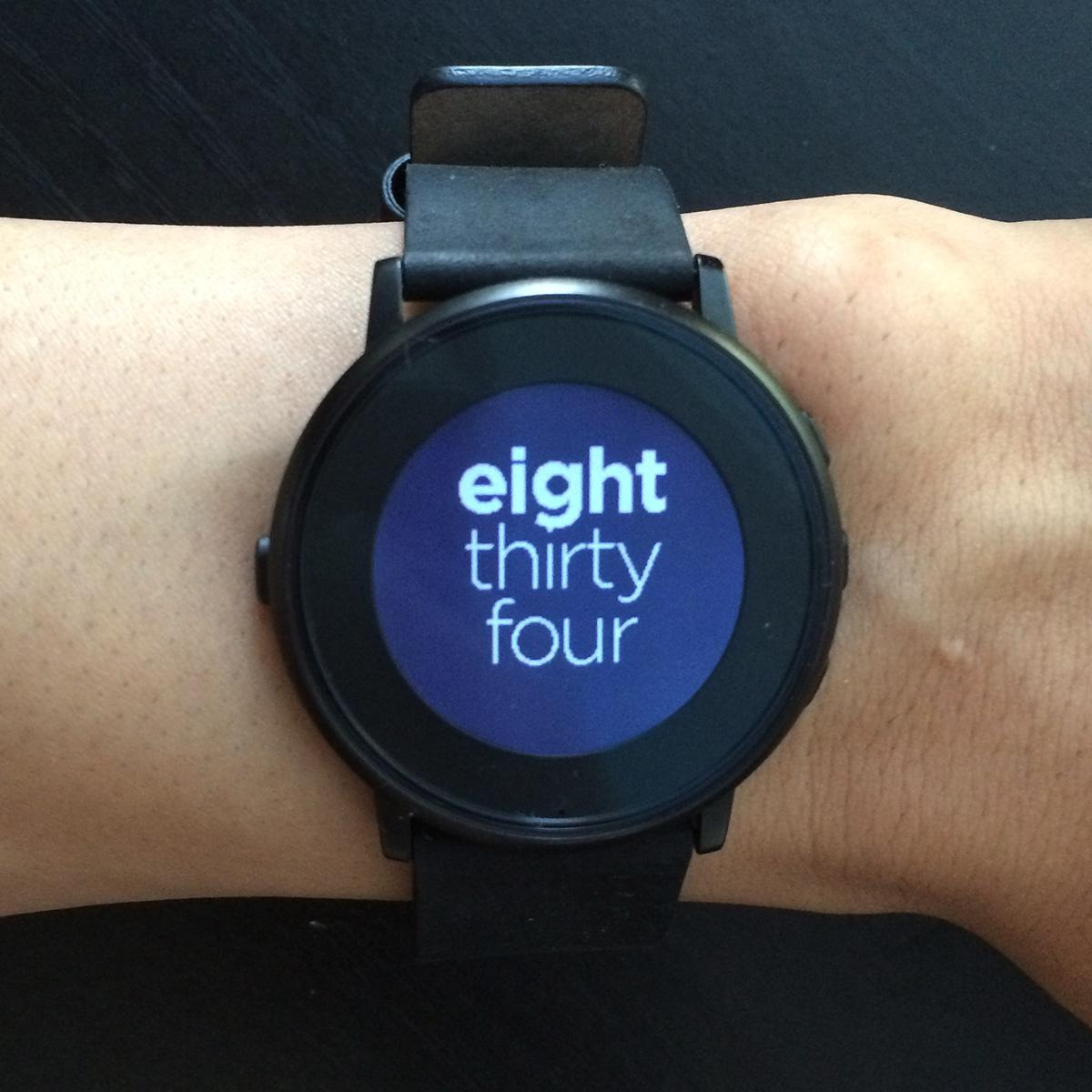 Sliding Text Pebble watch faces