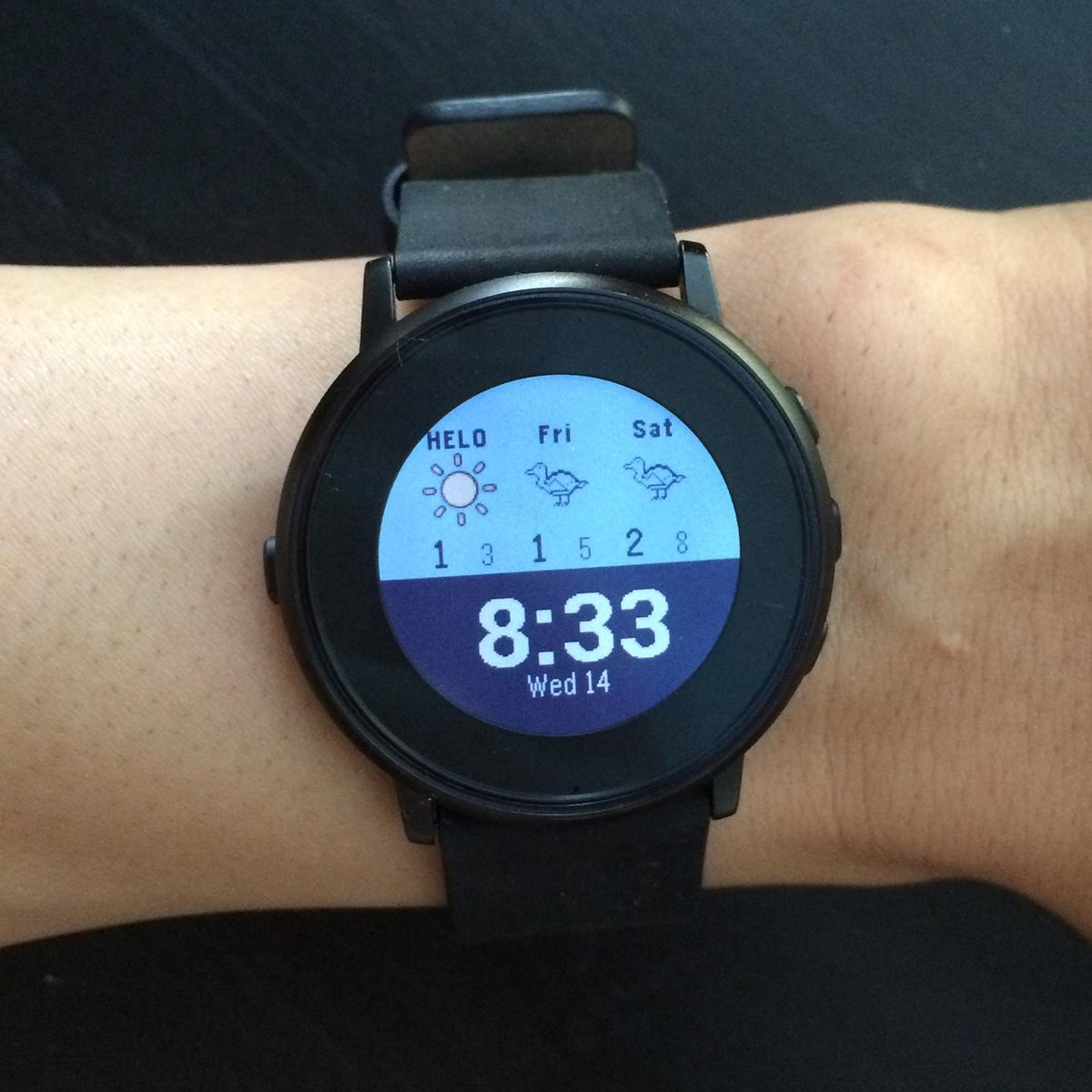 Minimalist Weather Pebble watchface