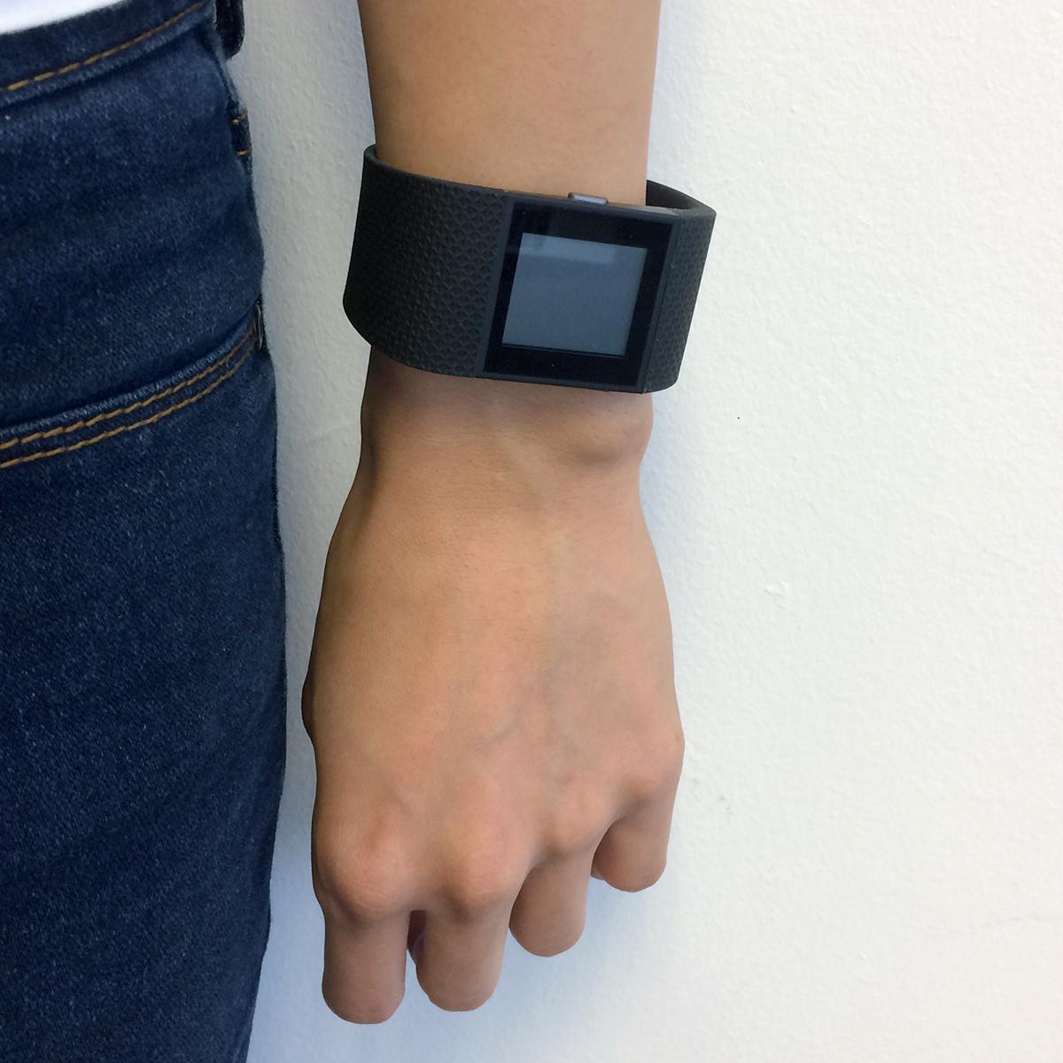 Fitbit comparison: Fitbit Surge on wrist