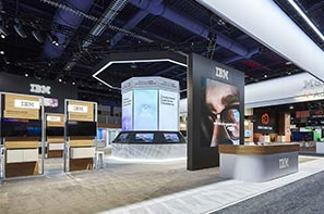 IBM NAB2017 exhibit booth design fabrication custom product display demo station event environment