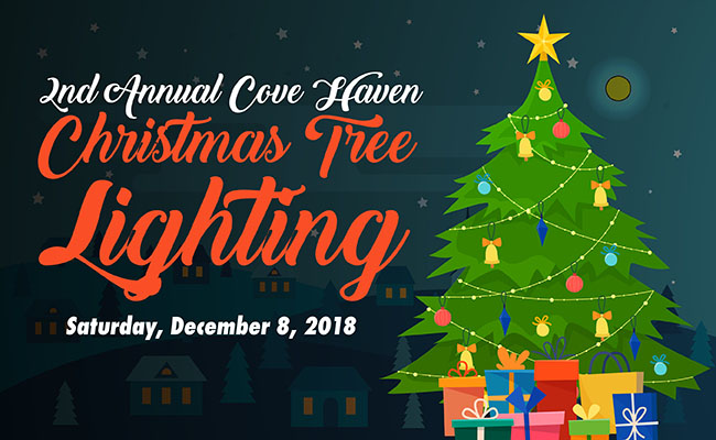 Cove Haven Christmas Tree Lighting