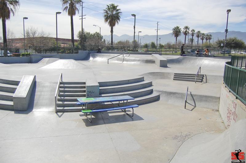 santana regional skatepark, corona, california
