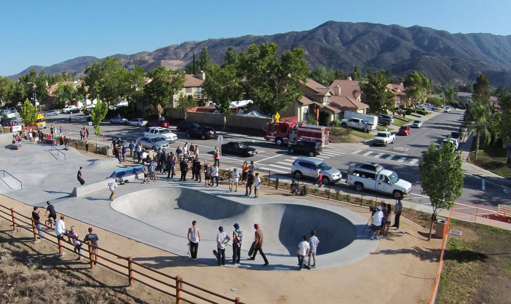 skate zone at serenity park, lake elsinore, california