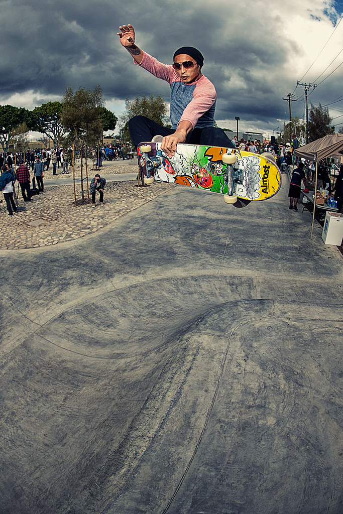 mcbride skatepark, long beach, california