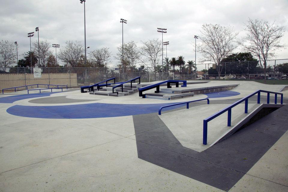 gilbert lindsay skate plaza, los angeles, california