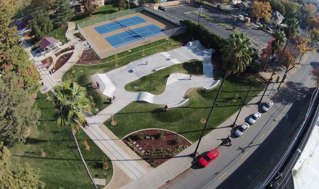 mcclatchy skatepark, sacramento, california