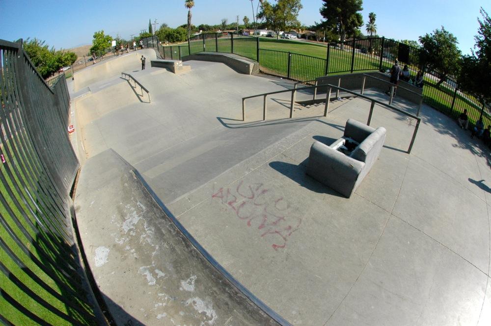 blair skatepark, san bernardino, california