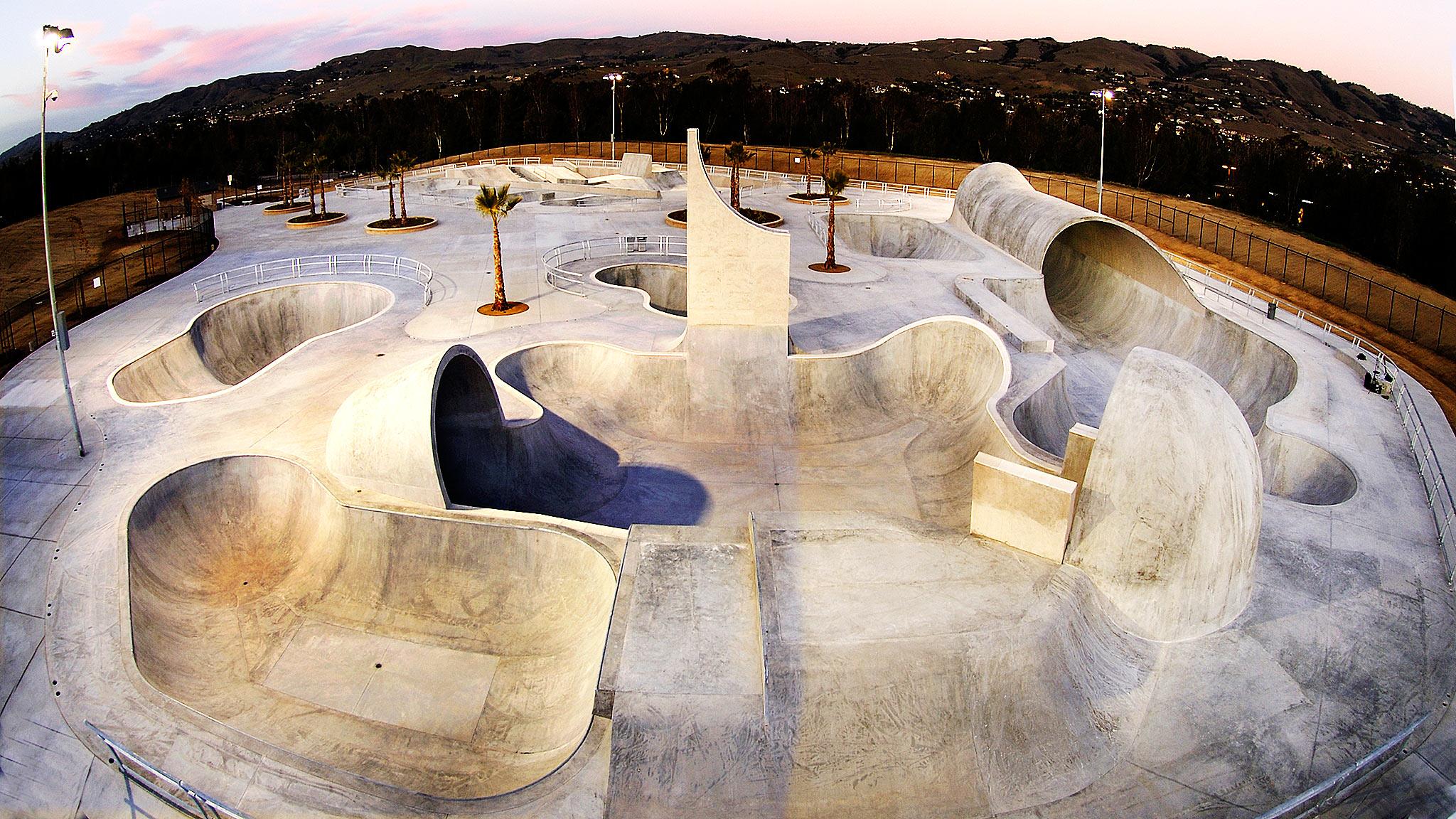 lake cunningham regional skatepark, san jose, california