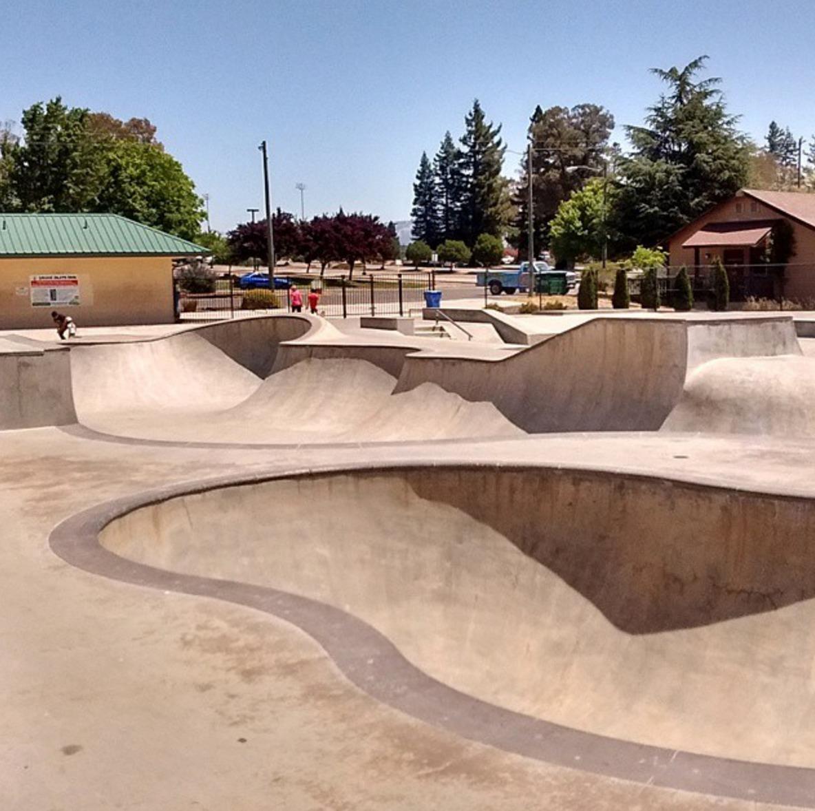 ukiah skatepark, ukiah, california