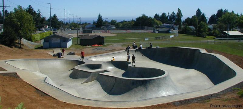 bud cross skatepark, brookings, oregon