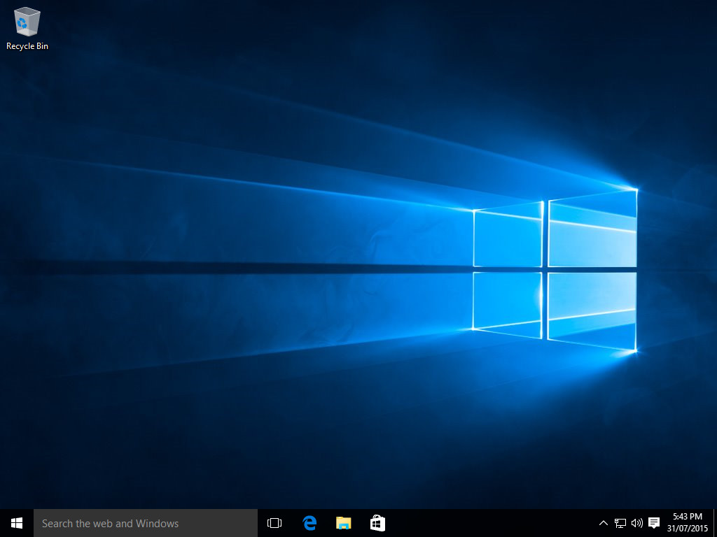 Windows 10 Flush DNS - Paso 1 - Comience en el escritorio de Windows 10