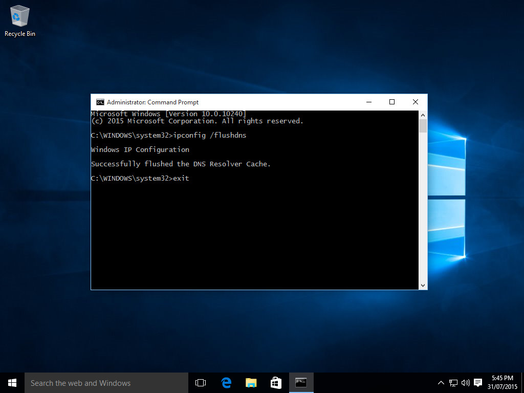 Windows 10 Flush Dns  Step 6  Type 'exit' To Close Themand