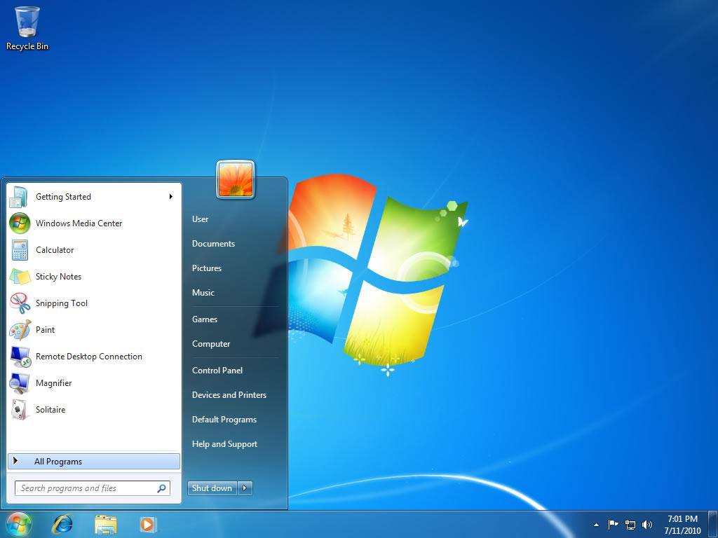Windows Vista / Windows 7 Flush DNS - Paso 1 - Haga clic en Inicio y luego en Todos los programas