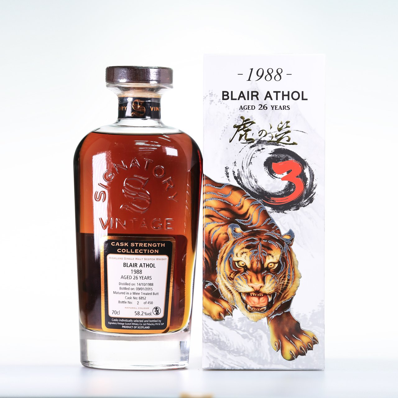 Blair athol 26 year old 1988 tiger's exclusive selection 3th  cask  6852