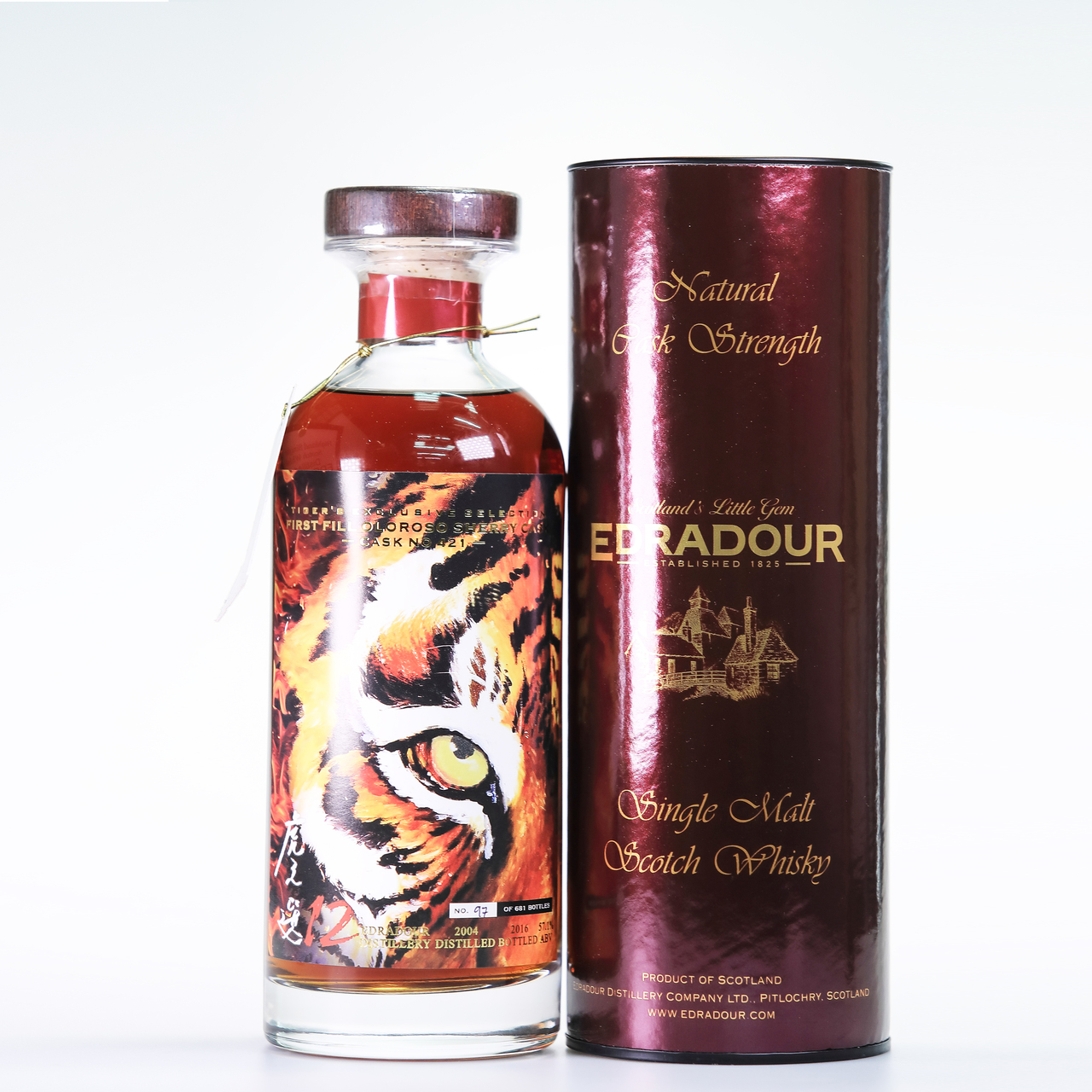 Edradour 2014 tiger's exclusive selection cask  421