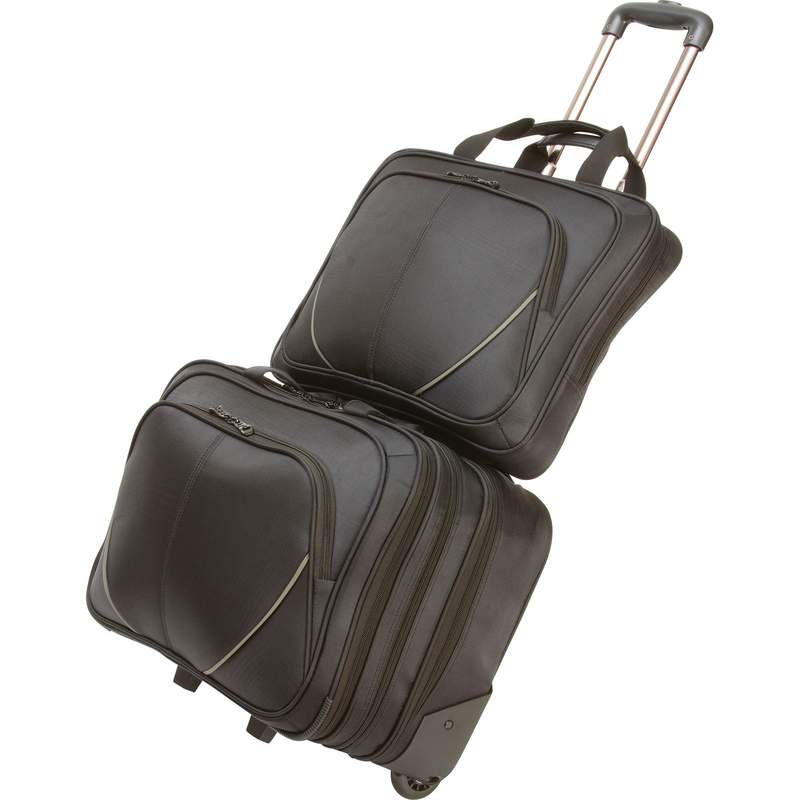 2pc Trolley Overnight Bag with LAPTOP Bag
