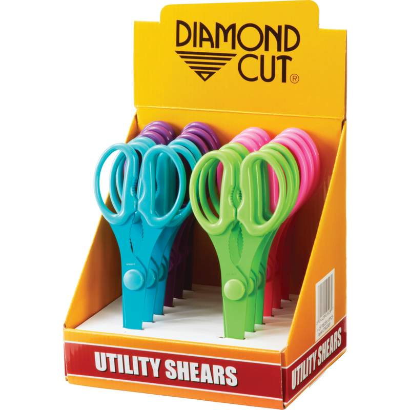 Wholesale 12pc Utility Shears in Countertop Display for sale at bulk cheap prices!