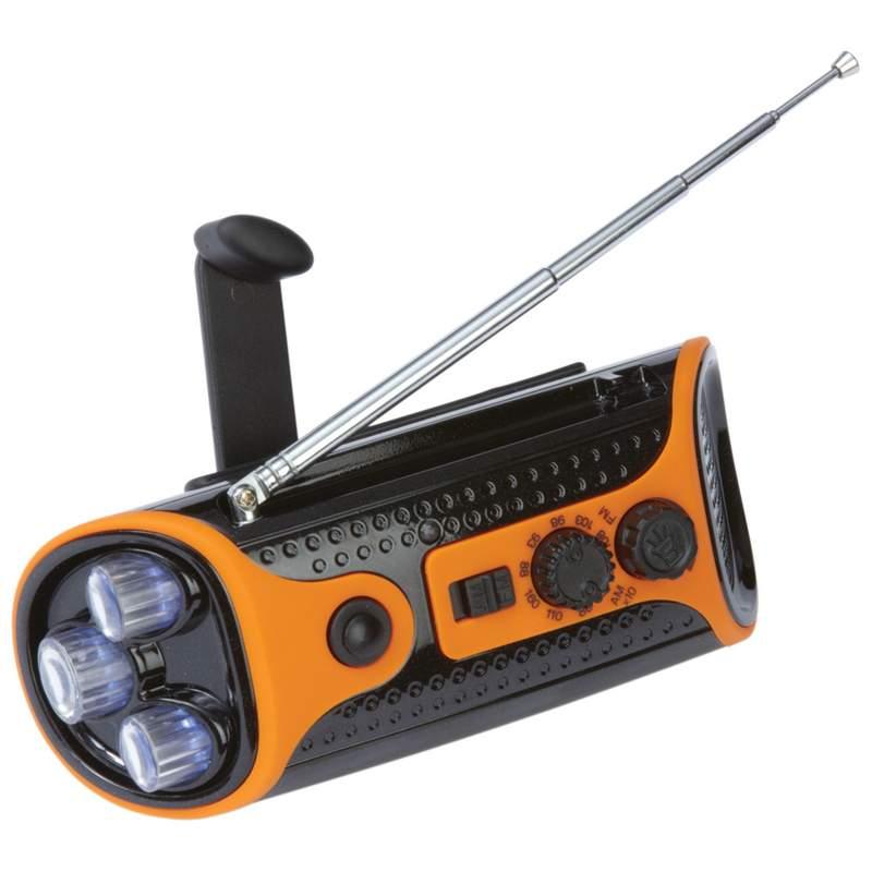 Wind-Up AM/FM Radio Flashlight