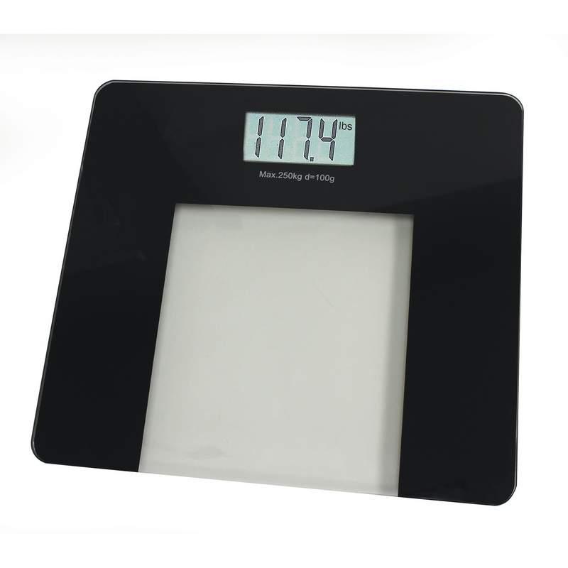 Glass ELECTRONIC Black Bathroom Scale