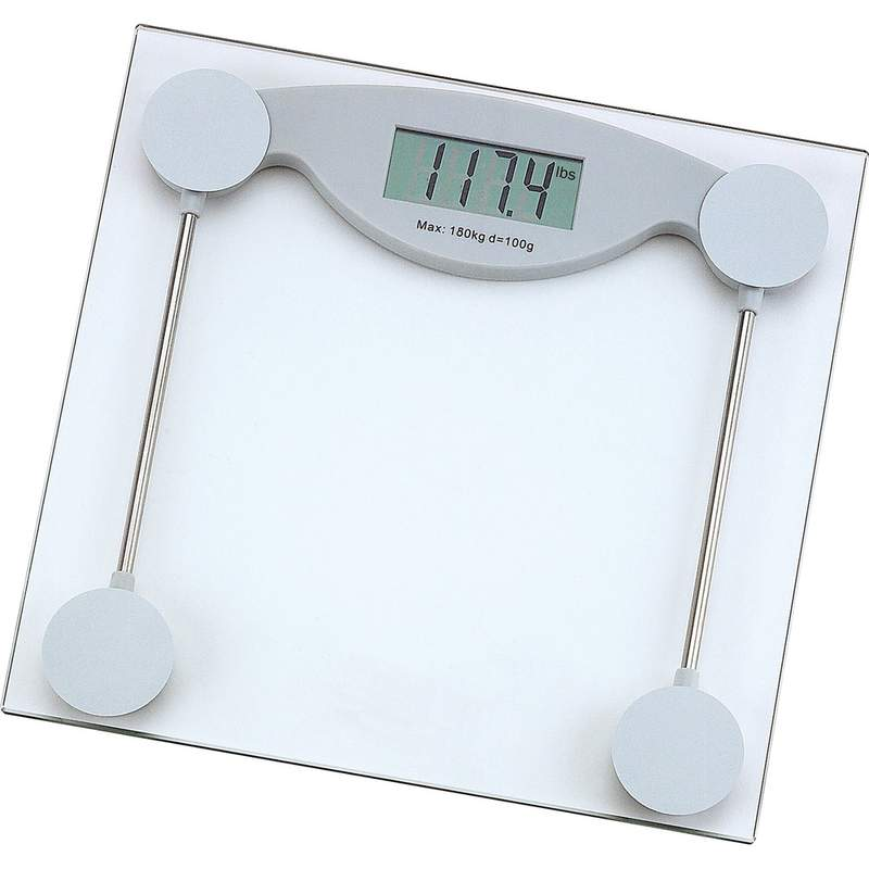 Glass ELECTRONIC White Bathroom Scale