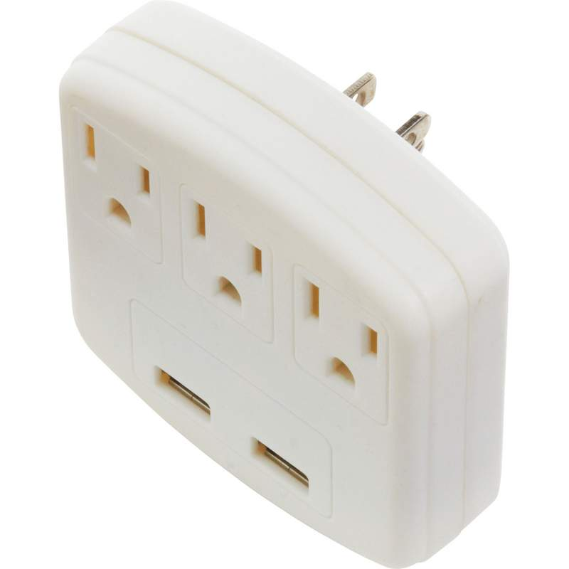 3 Port Outlet and USB Adapter