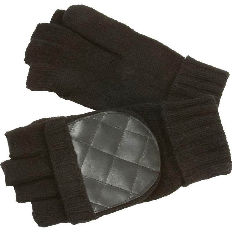 Mens Convertible Black GLOVES/Mittens