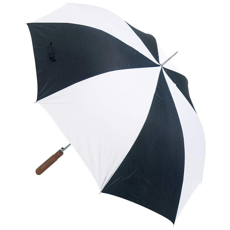 "48"" Auto Open Black/White Umbrella"