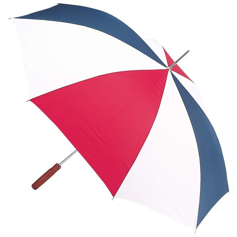 "Wholesale Red/White/Blue 48"" Auto Open Umbrella for sale at  bulk cheap prices!"