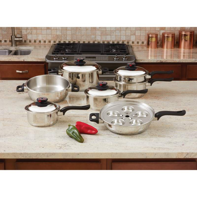 17pc Surgical Stainless Steel COOKWARE Set
