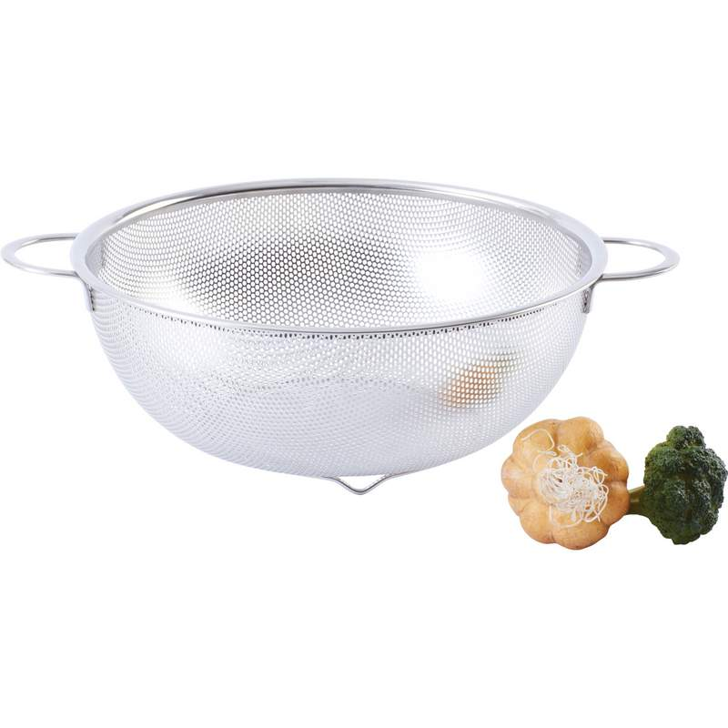 "Wholesale 11"" Perforated Stainless Steel Colander for sale at  bulk cheap prices!"