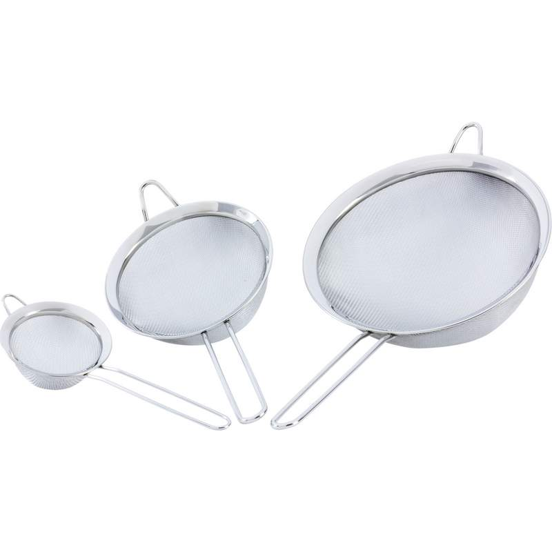 Wholesale 3pc Stainless Steel Strainer Set for sale at bulk cheap prices!
