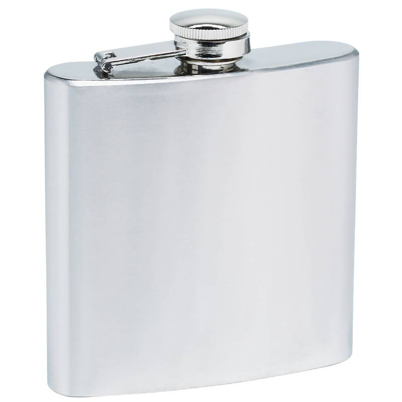 Maxam 8oz Stainless Steel Flask with Solid Genuine Leather Wrap
