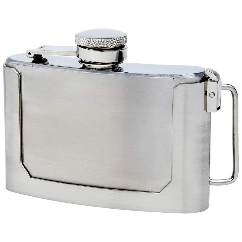 3oz Stainless Steel BELT BUCKLE Flask