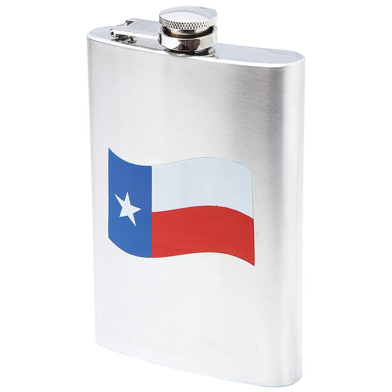FLASK 1 Gallon Large TEXAS State Flag Stainless Steel Lone Star Liquor Screw Cap