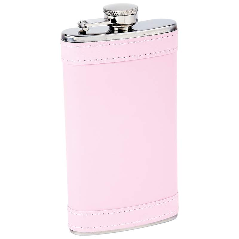 6oz Pink Wrap Flask