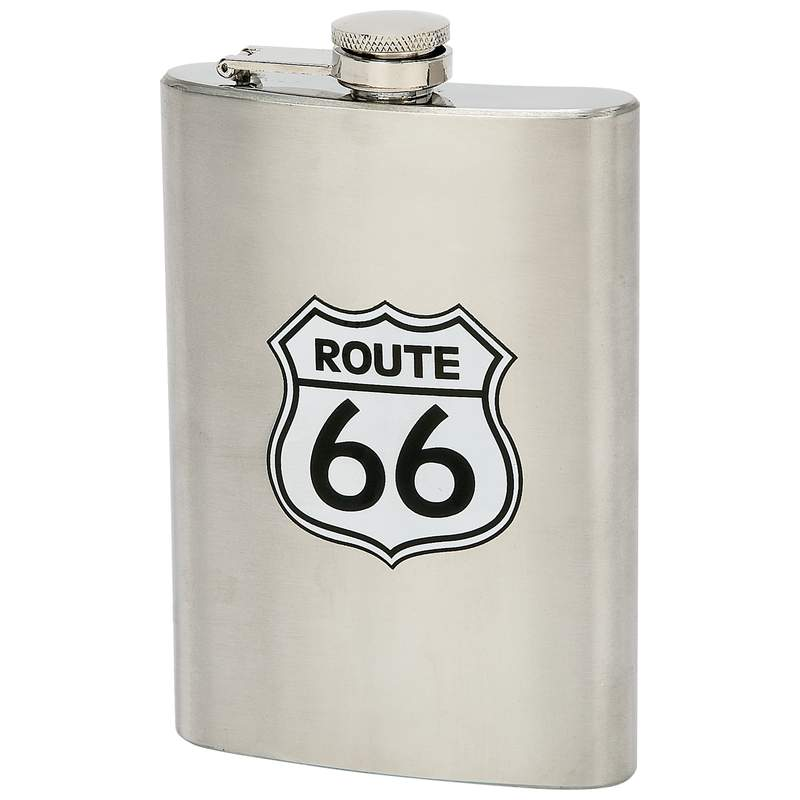 8oz ROUTE 66 Hip Flask