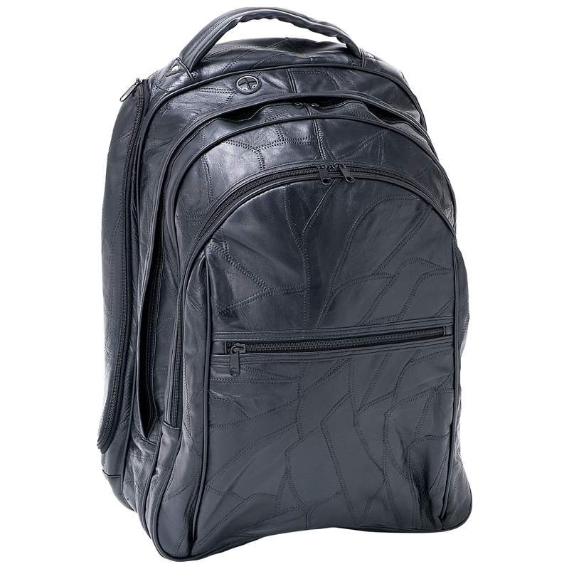 ''18'''' Genuine Leather Laptop Backpack''
