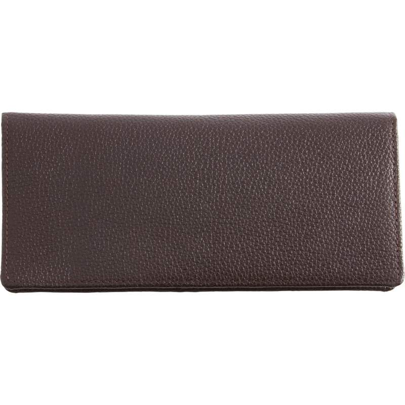 Chocolate Brown Lambskin LEATHER WALLET