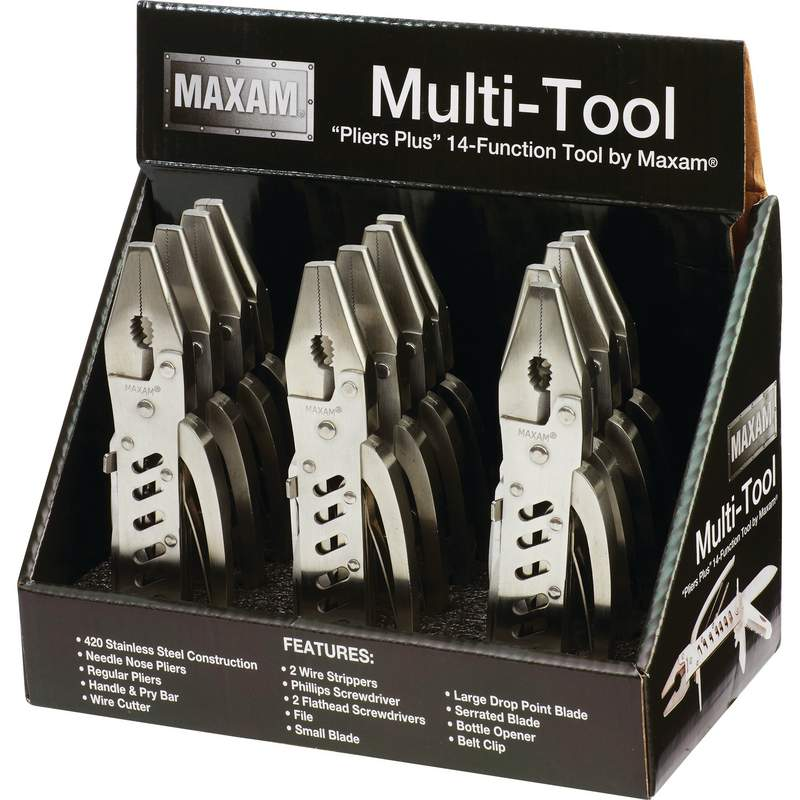 12pc Multi-TOOLS in Display