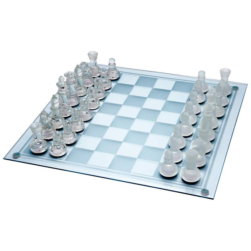 Wholesale 33pc Glass Chess Set For Sale At Bulk Cheap Prices!