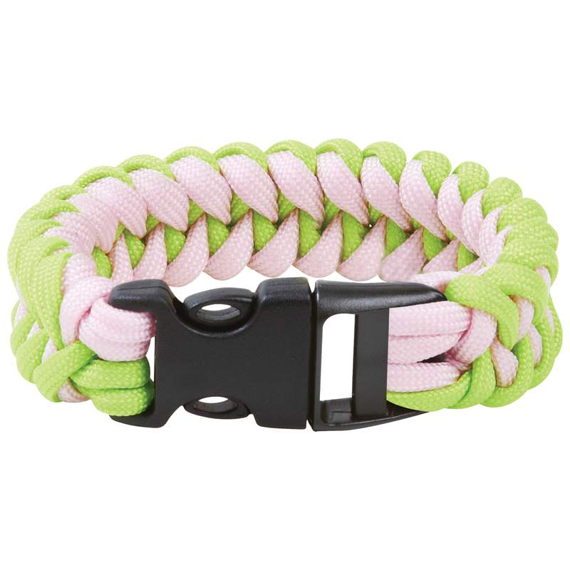 wholesale 8 fluorescent green and pink paracord bracelet buy wholesale camping products. Black Bedroom Furniture Sets. Home Design Ideas