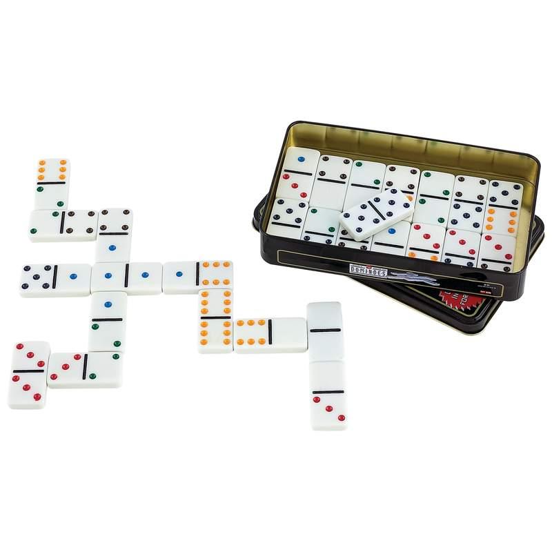 Wholesale 28pc Double 6 Color Dot Domino Set Buy Wholesale Games