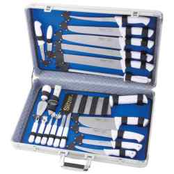 Wholesale 22pc Professional Cutlery Set in Case for sale at bulk cheap prices!