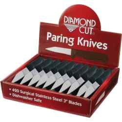 Wholesale 60pc Paring Knives in Countertop Display for sale at bulk cheap prices!