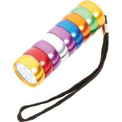Wholesale 9 LED Multi-Colored Flashlight for sale at bulk cheap prices!